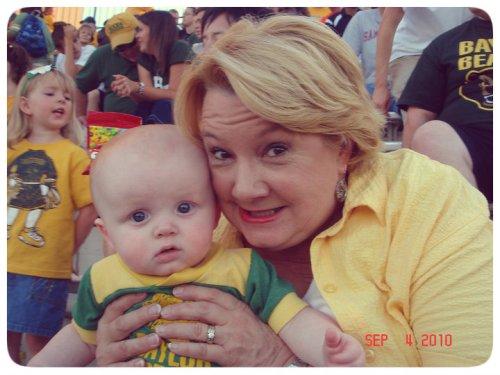 My mom with my nephew.