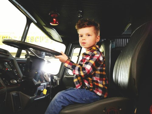 Driving the fire truck