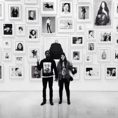 Muka & I at the Richard Avedon Exhibit 2013